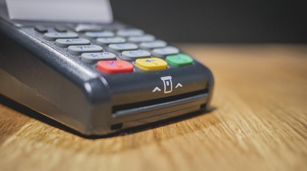 Credit and debit card machine
